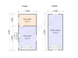 Дом из бруса проект Кузьма - вид 3