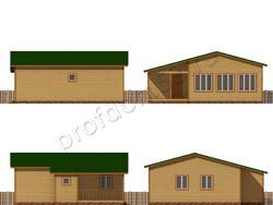Дом из сухого бруса проект Леон - вид 2