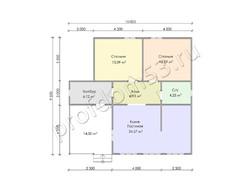 Дом из сухого бруса проект Леон - вид 3