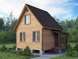 Дом из бруса проект Леонид - вид 1
