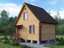 Дом из бруса проект Леонид - вид 2