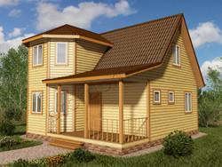 Дом из бруса проект Лоренс - вид 1