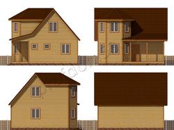 Дом из бруса проект Лоренс - вид 2