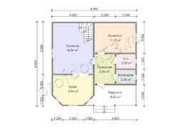 Дом из бруса проект Лоренс - вид 3