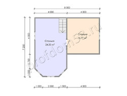 Дом из бруса проект Лоренс - вид 4