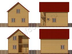 Дом из сухого бруса проект Лукиллиан - вид 2