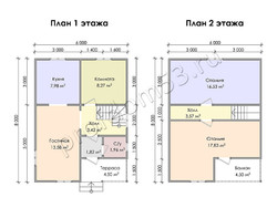 Дом из сухого бруса проект Лукиллиан - вид 3
