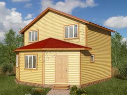 Дом из бруса проект Лукьян - вид 1