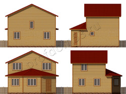 Дом из бруса проект Лукьян - вид 2