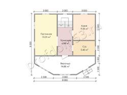 Дом из бруса проект Лукьян - вид 3