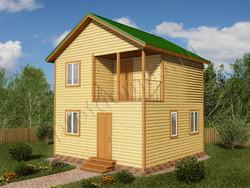 Дом из бруса проект Любомир - вид 1