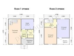 Дом из бруса проект Любомир - вид 2