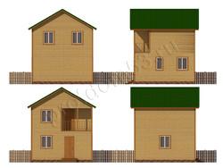Дом из бруса проект Любомир - вид 3