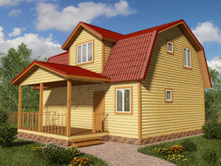 Дом из бруса проект Людвиг - вид 1