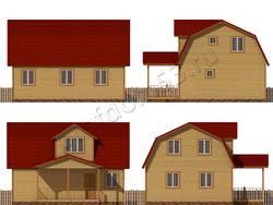 Дом из бруса проект Людвиг - вид 2