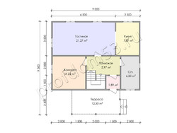 Дом из бруса проект Людвиг - вид 3