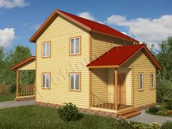 Дом из бруса проект Маджид - вид 1