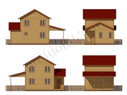 Дом из бруса проект Маджид - вид 2