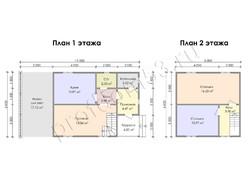 Дом из бруса проект Маджид - вид 3
