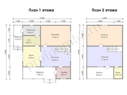 Дом из сухого бруса проект Махмуд - вид 3