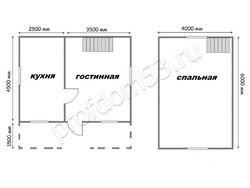 Дом из бруса проект Макар - вид 3