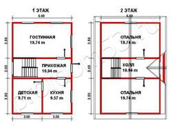 Дом из бруса проект Максим - вид 2