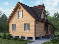 Дом из бруса проект Марат - вид 1