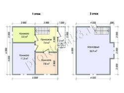 Дом из бруса проект Марат - вид 2