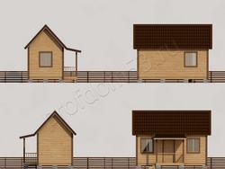 Дом из сухого бруса проект Марк - вид 2