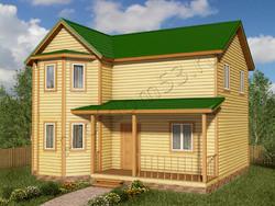 Дом из бруса проект Марсель - вид 1