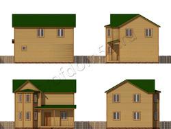 Дом из бруса проект Марсель - вид 2