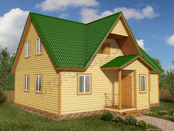 Дом из бруса проект Матвей - вид 1