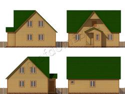 Дом из бруса проект Матвей - вид 2