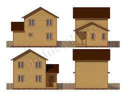 Дом из бруса проект Микула - вид 2