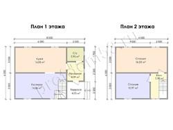 Дом из бруса проект Микула - вид 3