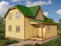 Дом из бруса проект Мирон - вид 1