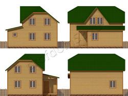 Дом из бруса проект Мирон - вид 2
