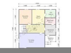 Дом из бруса проект Мирон - вид 3