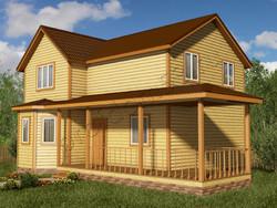 Дом из бруса проект Мирослав - вид 1