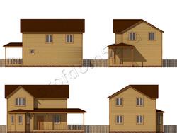 Дом из бруса проект Мирослав - вид 2