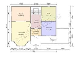 Дом из бруса проект Мирослав - вид 3