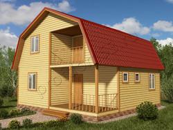 Дом из бруса проект Мурат - вид 1