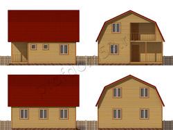 Дом из бруса проект Мурат - вид 2