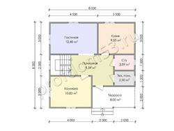 Дом из бруса проект Мурат - вид 3