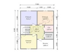 Дом из бруса проект Мурат - вид 4