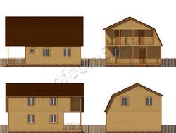 Дом из бруса проект Муслим - вид 2