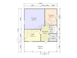 Дом из бруса проект Муслим - вид 3
