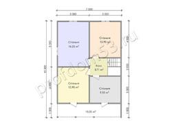 Дом из бруса проект Муслим - вид 4