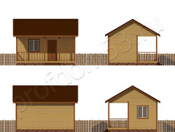 Дом из бруса проект Натан - вид 2