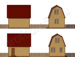 Дом из бруса проект Наум - вид 2